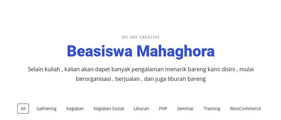 Beasiswa Mahaghora