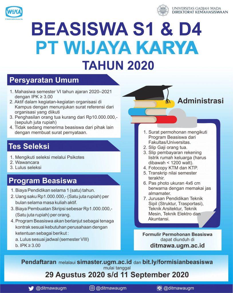 Beasiswa PT Wijaya Karya