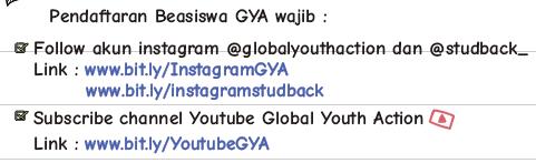 Global Youth Action Gya Beasiswa Sma Smk D3 D4 S1 Semua Jurusan