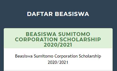 beasiswa Sumitomo Scholarship