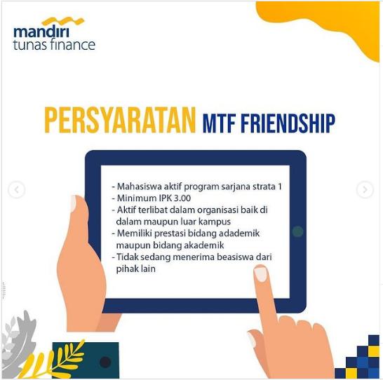 Beasiswa MTF Friends Scholarship