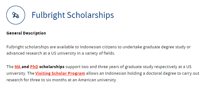 Beasiswa fulbright Scholarships