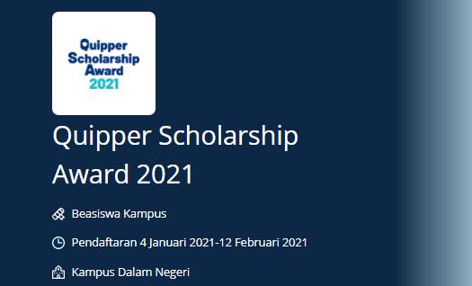 Beasiswa Quipper Scholarship