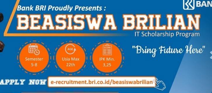 Beasiswa BRI BRILiaN Scholarship