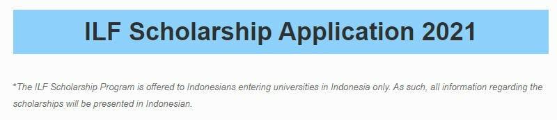 Beasiswa ILF Scholarship