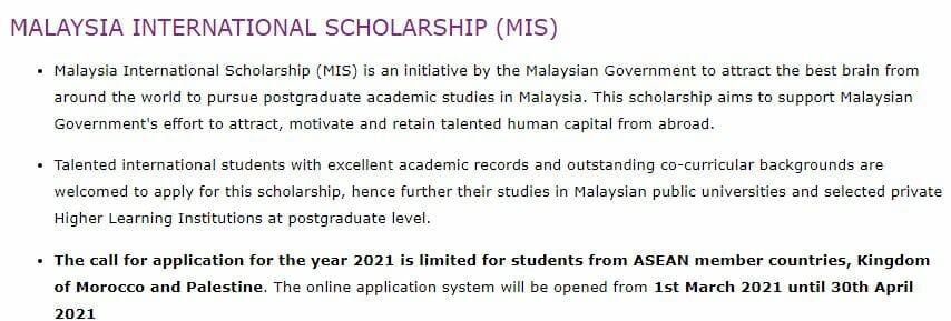 Beasiswa S2 Malaysia