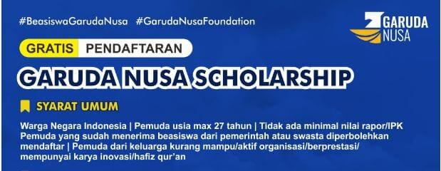 Beasiswa Garuda Nusa Scholarship