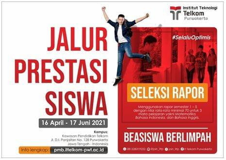Beasiswa Institut Teknologi Telkom Purwokerto