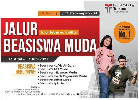 Beasiswa Kuliah di Institut Teknologi Telkom Purwokerto