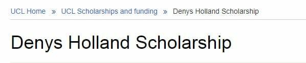 Beasiswa Denys Holland Scholarship