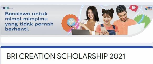 Beasiswa BRI Creation Scholarship