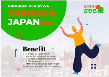 Beasiswa Sariraya Japan 2021 2022