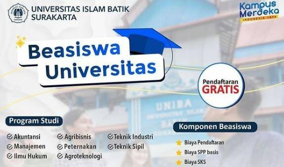 Beasiswa Universitas Islam Batik Surakarta