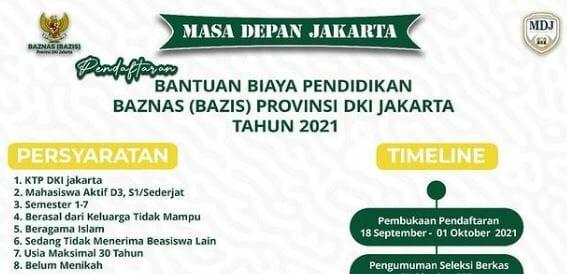Beasiswa Baznas DKI Jakarta