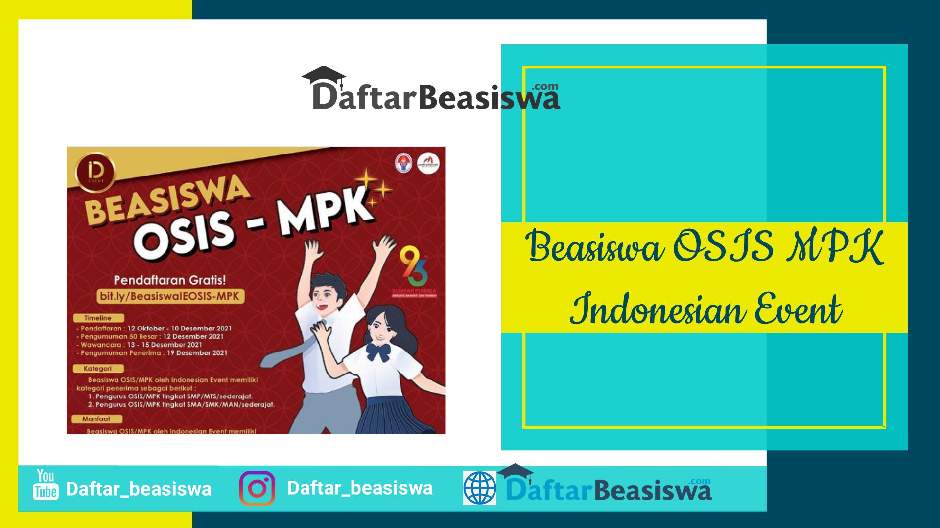 Beasiswa OSIS MPK Indonesian Event